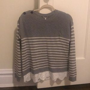 NWT Joie M wool/cashmere striped sweater $190